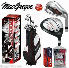 Macgregor CG1900 Mens Complete Golf Club Set New Steel Shafted Irons Cart Bag