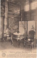 CPA BELGIQUE BELGIUM BRUXELLES expo publique belgo-japonais mobilier en bois