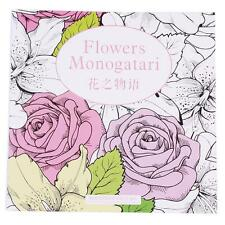 Interesting Flower Monogatari Series Painted Coloring Book For Adult Young - L