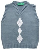 Boys Tank Top,V Neck Sleeveless/knitted vest / jumper.Age 12 months to 6 years