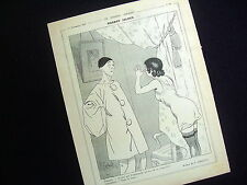 "ORIGINAL OLD PAGEPRINT: ""PIERROT JALOUX""  by H. GERBAULT~1919"