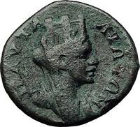JULIA DOMNA 193AD Pautalia Thrace TYCHE Authentic Ancient Roman Coin i59233