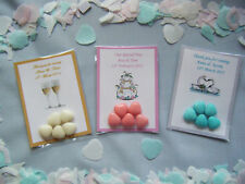 10 packs personalised chocolate heart sweets wedding favors  choice of colours