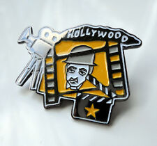 ZP70 Film Board Silent Movie Camera Hollywood Chaplin Pin Badge Clapperboard