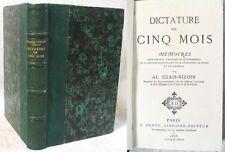 Dictature de Cinq Mois (1870) / Alexandre Glais-Bizoin / Édition Dentu 1873