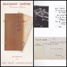 CATALOGUE BEAUSSANT & LEFEVRE 2006  WILLY GUITRY TALLEYRAND CELINE CHAR ...