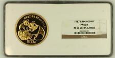 1987 CHINA GOLD 500YUAN 5oz PANDA PROOF, NGC PF 67 UC, MINTAGE 3000