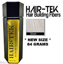 Hair-tek Hair Building Fibers Instantly Conceal Balding  1 - 84gms Silver