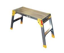 Youngmans Hop up Step Ladder Odd Job Folding Stool Platform Work Bench Aluminium