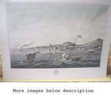 Vintage Print,TOWN of DUNDEE,Scotland,Historical,1824,I.CLARK,London, 20 x 26