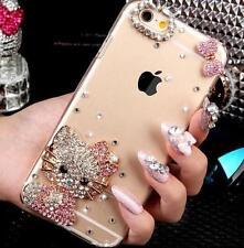 Bling Clear Crystal Diamond Gel Soft TPU back Ultra-thin Phone Case Cover Skin 2