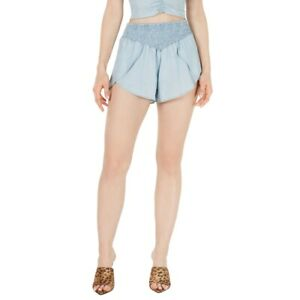 GUESS NEW Women's Smocked Tulip Pull On Khakis & Chinos Shorts S TEDO