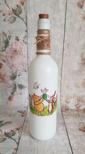 Winnie The Pooh Bottle Light/Lamp/Nursery/Bedroom/Handmade/Painted
