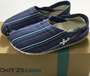 Unisex OTZ 300GMS Cotton Slip On Shoes Blue Stripes EU 36 US Size M3/W6
