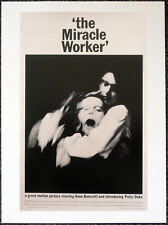 THE MIRACLE WORKER 1962 FILM MOVIE POSTER PAGE . ANNE BANCROFT . S42