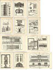 Stampa antica SALINE SALE 11 TAV. Encyclopedie Diderot 1785 Antique print