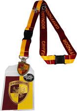 Harry Potter Gryffindor School Lanyard Sticker ID Holder & Metal Charm Official