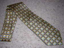 "PFIZER ""VIAGRA"" Logo Gold/Blue Checkerbox Men's Dress Tie 58"""