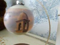 Vtg. Hallmark Glass Ornament 'The Mission Bells of Christmas' 1977
