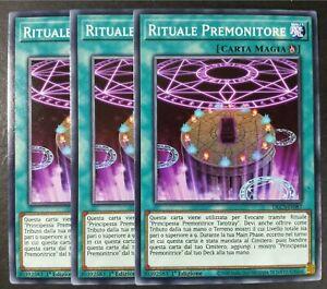 Set 3 Carte : RITUALE PREMONITORE in Italiano DLCS-IT087 Comune YUGIOH