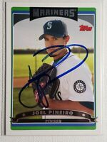 2006 Topps Joel Pineiro Autograph Card Mariners Red Sox Cardinals Angels Auto