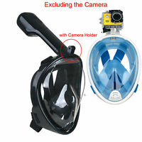 Anti-Fog Full Face Mask Swimming Underwater Diving Snorkel Scuba For GoPro Glass