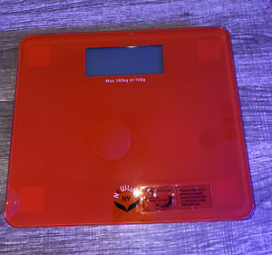 newline ny comfort edge extra large bathroom scale red 400lbs blue back light
