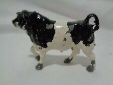 PreWarBritains Lead Toy Metal Holstein Black n White Bull