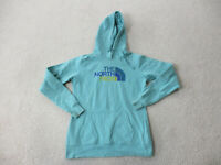 The North Face Sweater Womens Small Green Yellow Hoodie Hooded Ladies *
