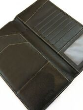 ORGANISER~RARE HUGO BOSS TRAVEL~ DOCUMENT WALLET-SOFT BLACK GRAIN LEATHER~BEAUTY