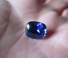SOMPTUEUX SAPHIR VERNEUIL swifé CORNFLOWER BLUE 12x10mm .IF..7 cts environ