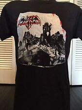 VTG 88 Lizzy Borden Menace Tour Shirt Sz S Maiden Rock Priest Metal Metallica