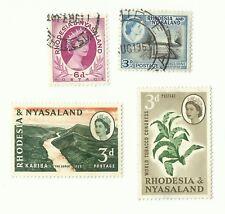 Rhodesia & Nyasaland postage stamps x 4 (Batch 2)