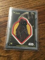 2020 Topps Star Wars Holocron Commemorative Creature Patch Jawa with The Mudhorn