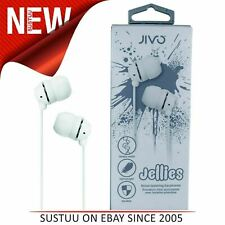 Jivo JI-1060W Jellies In-Ear Noise Isolating Earphone|Soft & Comfy|Vanilla|New