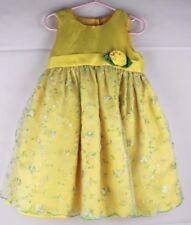 603308f8d088a Merveilleux Enfants Bébés Robe Soirée Jaune Polyester Taille 3