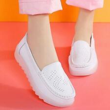 Womens Slip Resistant Breathable Nurse Hospital Shoes Slip on Loafers Gommino SZ