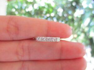 .31 CTW Diamond Half Eternity Ring PLATINUM HE52 sep **