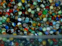 Lot of 40 Jabo Classic Peewee Marbles Assorted L@@K Nice Swirls Made In USA