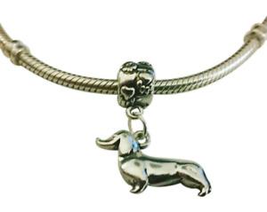Dachshund Charm for Bracelet - Doxie Charm - Silver Dachshund Charm dog lover
