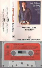 ANDY WILLIAMS Love Story RARE SPANISH CASSETTE  paper label