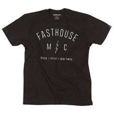 FASTHOUSE STATIC BLACK MENS TEE SMALL 1173-0008