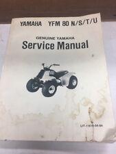 Genuine Yamaha Service Manual YFM80 YFM 80 N/S/T/U