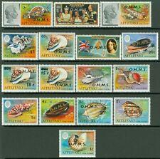 Edw1949Sell : Aitutaki 1976-79 Scott #O1-16 Complete set. Very Fine, Mnh Cat $87
