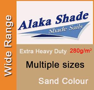 Extra Heavy Duty Shade Sail ShadeCloth Sand Sun Canopy Triangle Square Rectangle