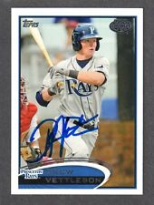 2012 TOPPS PRO DEBUT #39  Drew Vettleson  TB RAYS  SIGNED AUTOGRAPH AUTO COA