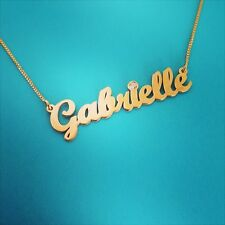 Solid Gold Name Necklace /