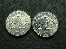 UNITED STATES   5 Cents  2005  P & D  UNCIRCULATED  ,  BISON   ( TWO  COINS )