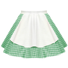 "Ladies OKTOBERFEST Costume Bavarian German 17"" Gingham Apron DIRNDL Skirt"