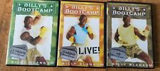 Billys Boot Camp Lot of 3 Exercise Workout DVD  AB, Cardio, Ultimate